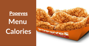 Popeyes Menu Calories