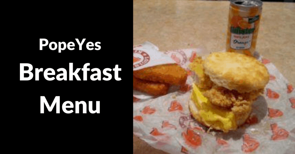 popeyes breakfast menu