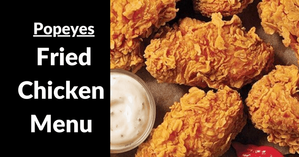 popeyes fried chicken menu