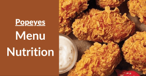 Popeyes Menu Nutrition